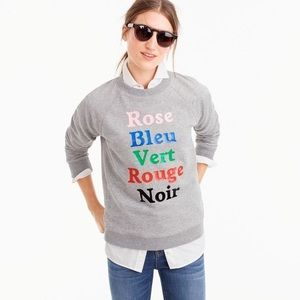 Jcrew color sweatshirt